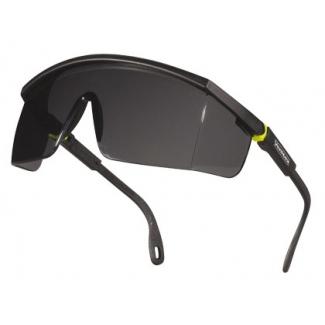 Gafas Deltaplus de protección policarbonato monobloque ahumado color gris-amarilla uv400
