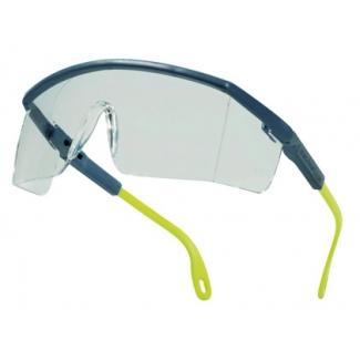 Gafas Deltaplus de protección policarbonato monobloque incoloro color gris-amarilla uv400