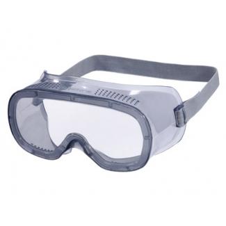 Gafas de protección Deltaplus panoramicas montura flexible de pvc ventilación directa talla ajustable color gris