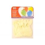 Globos blancos bolsa de 20