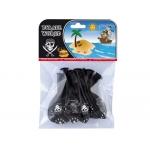 Globos piratas impresos todo alrededor bolsa de 8 unidades