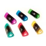 Liderpapel ER04 - Sacapuntas de plástico, con goma de borrar triangular, con depósito, colores surtidos