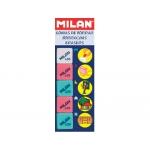 Milan 430-5 - Goma de borrar, miga de pan, blíster de 5 gomas