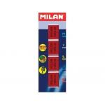 Milan 624 - Goma de borrar, nata, blister de 4 gomas