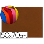 Goma eva Liderpapel 50x70 cm 60 gr/m2 espesor 1.5 mm color marron