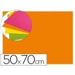 Goma eva Liderpapel 50x70 cm 60 gr/m2 espesor 2 mm fluor color naranja