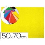 Goma eva Liderpapel 50x70 cm 60 gr/m2 espesor 2 mm textura toalla color amarillo