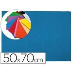 Goma eva Liderpapel 50x70 cm 60 gr/m2 espesor 2 mm textura toalla color azul