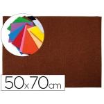 Goma eva Liderpapel 50x70 cm 60 gr/m2 espesor 2 mm textura toalla color marron