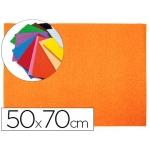 Goma eva Liderpapel 50x70 cm 60 gr/m2 espesor 2 mm textura toalla color naranja