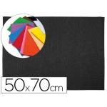 Goma eva Liderpapel 50x70 cm 60 gr/m2 espesor 2 mm textura toalla color negro