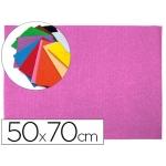 Goma eva Liderpapel 50x70 cm 60 gr/m2 espesor 2 mm textura toalla color rosa