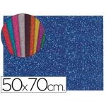 Goma eva con purpurina Liderpapel 50x70 cm 60 gr/m2 espesor 2 mm color azul oscuro