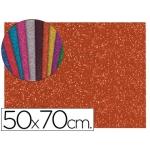 Goma eva con purpurina Liderpapel 50x70 cm 60 gr/m2 espesor 2 mm color naranja