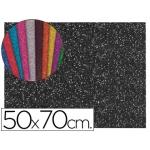 Goma eva con purpurina Liderpapel 50x70 cm 60 gr/m2 espesor 2 mm color negro