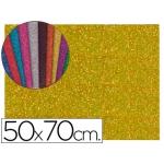 Goma eva con purpurina Liderpapel 50x70 cm 60 gr/m2 espesor 2 mm color oro