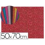 Goma eva con purpurina Liderpapel 50x70 cm 60 gr/m2 espesor 2 mm color rojo
