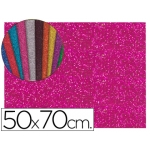 Liderpapel GE64 - Goma eva, espesor de 2 mm, 50 cm x 70 cm, con purpurina, color rosa