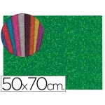 Goma eva con purpurina Liderpapel 50x70 cm 60 gr/m2 espesor 2 mm color verde