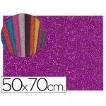 Goma eva con purpurina Liderpapel 50x70 cm 60 gr/m2 espesor 2 mm color violeta