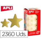 Gomets Apli estrella oro bolsa de 2360 unidades
