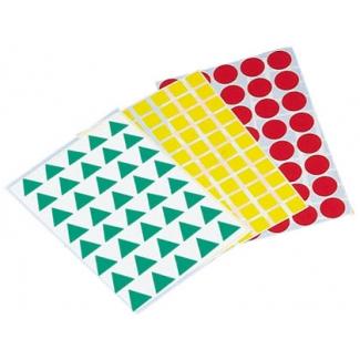 Gomets figuras geométricas 993 bolsa con 12 hojas