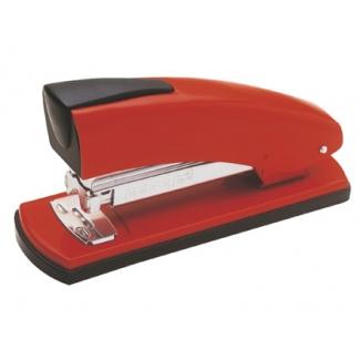 Petrus 2001 - Grapadora de sobremesa, 30 hojas de capacidad, usa grapas 22/6 - 24/6 - 26/6, color rojo
