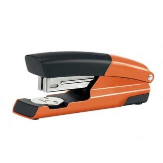Petrus 635 Wow - Grapadora de sobremesa, 30 hojas de capacidad, usa grapas 22/6 - 24/6 - 26/6 color naranja metalizado