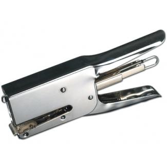 Q-Connect KF15021 - Grapadora de tenaza, 40 hojas de capacidad, usa grapas 24/6 - 24/8 - 26/6 - 26/8, color cromado
