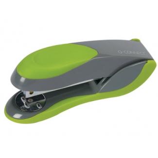Q-Connect KF00993 - Grapadora de sobremesa, 30 hojas de capacidad, usa grapas 22/6 - 24/6 - 26/6, color verde/gris