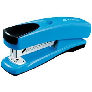 Q-Connect KF02149 - Grapadora de sobremesa, 30 hojas de capacidad, usa grapas 22/6 - 24/6 - 26/6, color azul