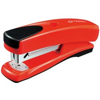 Q-Connect KF02150 - Grapadora de sobremesa, 30 hojas de capacidad, usa grapas 22/6 - 24/6 - 26/6, color rojo