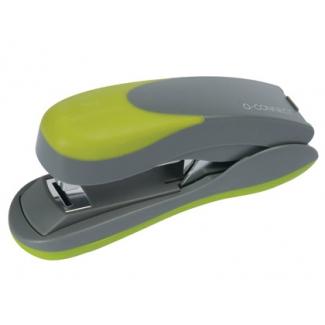 Q-Connect KF00992 - Grapadora de sobremesa, 30 hojas de capacidad, usa grapas 22/6 - 24/6 - 26/6, color verde/gris