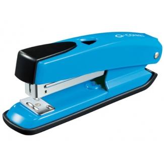 Q-Connect KF02151 - Grapadora de sobremesa, 20 hojas de capacidad, usa grapas 22/6 - 24/6, color azul