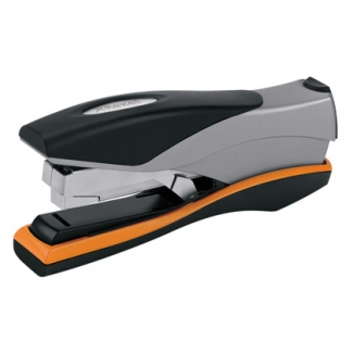 Rexel Optima 40 + - Grapadora de sobremesa, 40 hojas de capacidad, usa grapas 22/6 - 24/6, color gris/naranja
