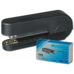 Skrebba Mini-Bit 186 - Grapadora de bolsillo, 10 hojas de capacidad, usa grapas nº 10, colores surtidos