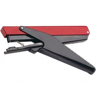 Petrus Majorette - Grapadora de tenaza, 10 hojas de capacidad, usa grapas nº 202, color rojo/negro