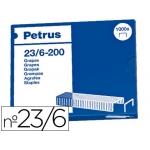 Grapas Petrus Nº 23/6 cobreada caja de 1000