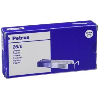 Petrus 55712 - Grapas Nº 26/6, cobreadas, caja de 5.000