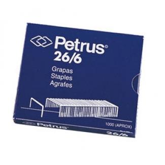 Petrus 55711 - Grapas Nº 26/6, galvanizadas, caja de 1.000