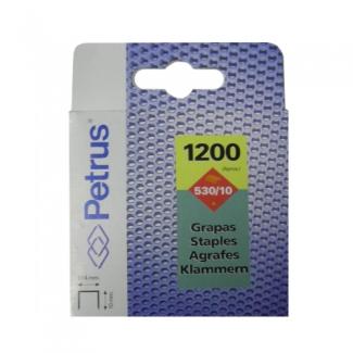 Petrus 77515 - Grapas Nº 530/10, cobreadas, caja de 1.200 grapas