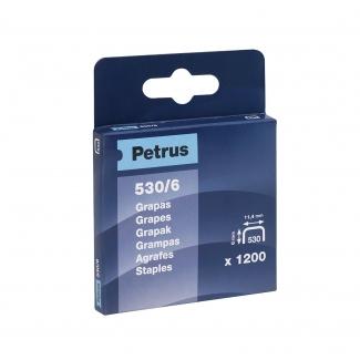 Petrus 77513 - Grapas Nº 530/6, cobreadas, caja de 1.200