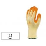 Guante Deltaplus de algodon poliester antideslizante especial para construcción y jardin color amarillo talla 8