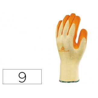 Guante Deltaplus de algodon poliester antideslizante especial para construcción y jardin color amarillo talla 9