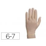 Guante Deltaplus de latex desechable especial para trabajos de corta duración caja de 100 talla 6-7