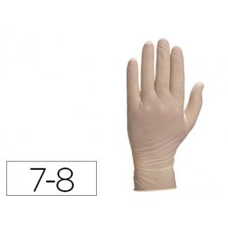 Guante Deltaplus de latex desechable especial para trabajos de corta duración caja de 100 talla 7-8