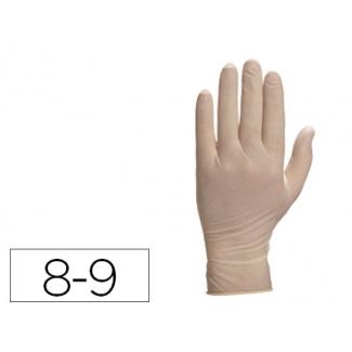 Guante Deltaplus de latex desechable especial para trabajos de corta duración caja de 100 talla 8-9