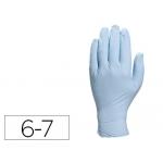 Guante Deltaplus de nitrilo desechable especial para trabajos de corta duración caja de 100 talla 6-7