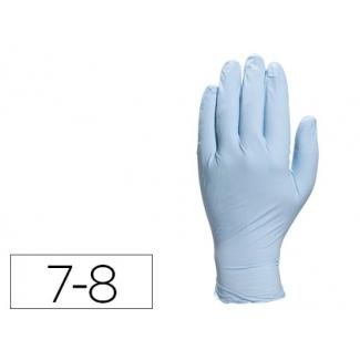Guante Deltaplus de nitrilo desechable especial para trabajos de corta duración caja de 100 talla 7-8