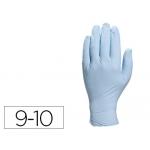 Guante Deltaplus de nitrilo desechable especial para trabajos de corta duración caja de 100 talla 9-10